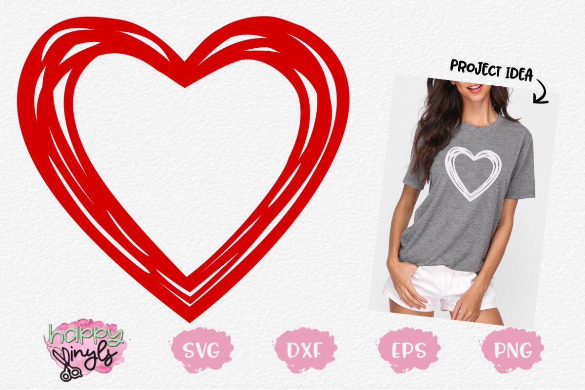 Multiple Heart Design - A Valentine's Day SVG example image 1