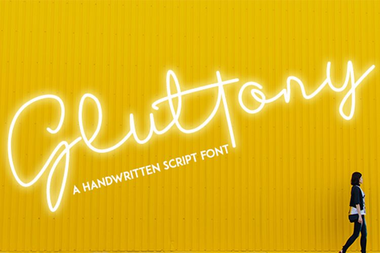 Gluttony - Script Font example image 1
