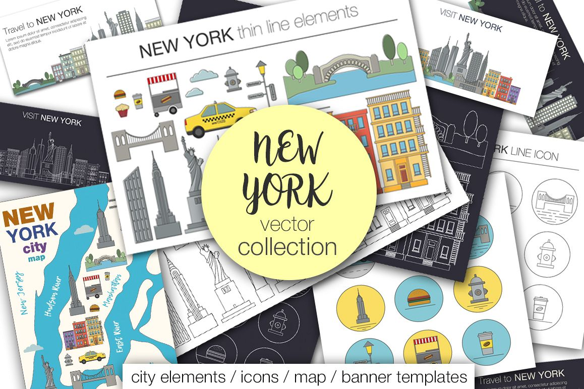 NEW YORK vector collection example image 1