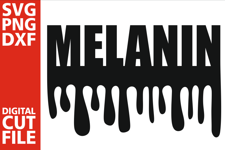 Melanin svg, Black woman svg, Dripping Words, Africa vector example image 1