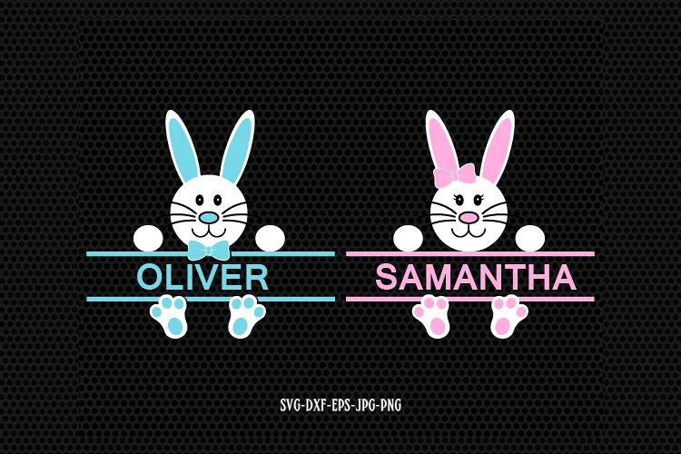 easter bunny monogram frames example image 1