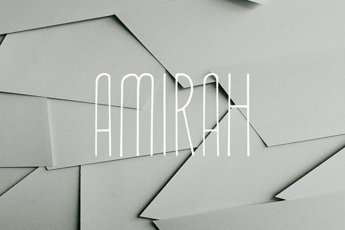 Amirah Display Font example image 1