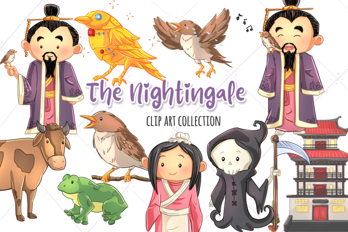 The Nightingale Fairy Tale Clip Art Collection example image 1