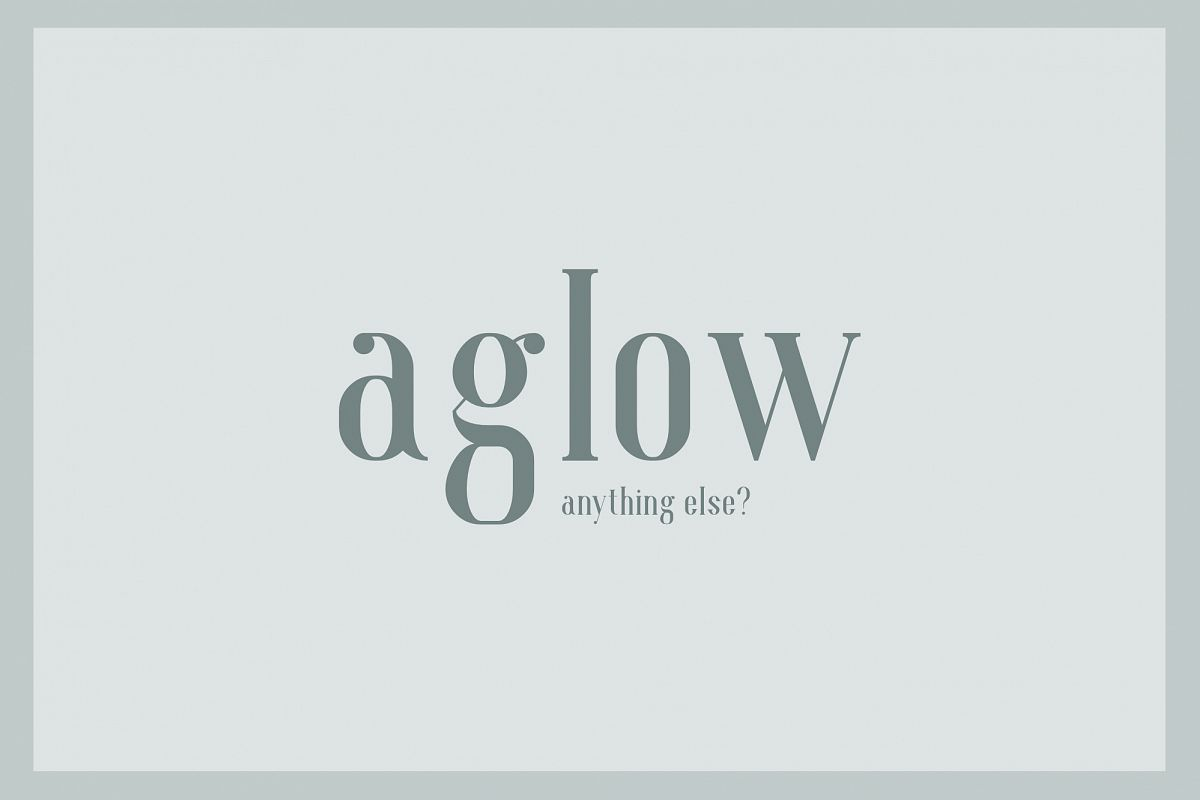 Aglow Serif - 4 Style example image 1