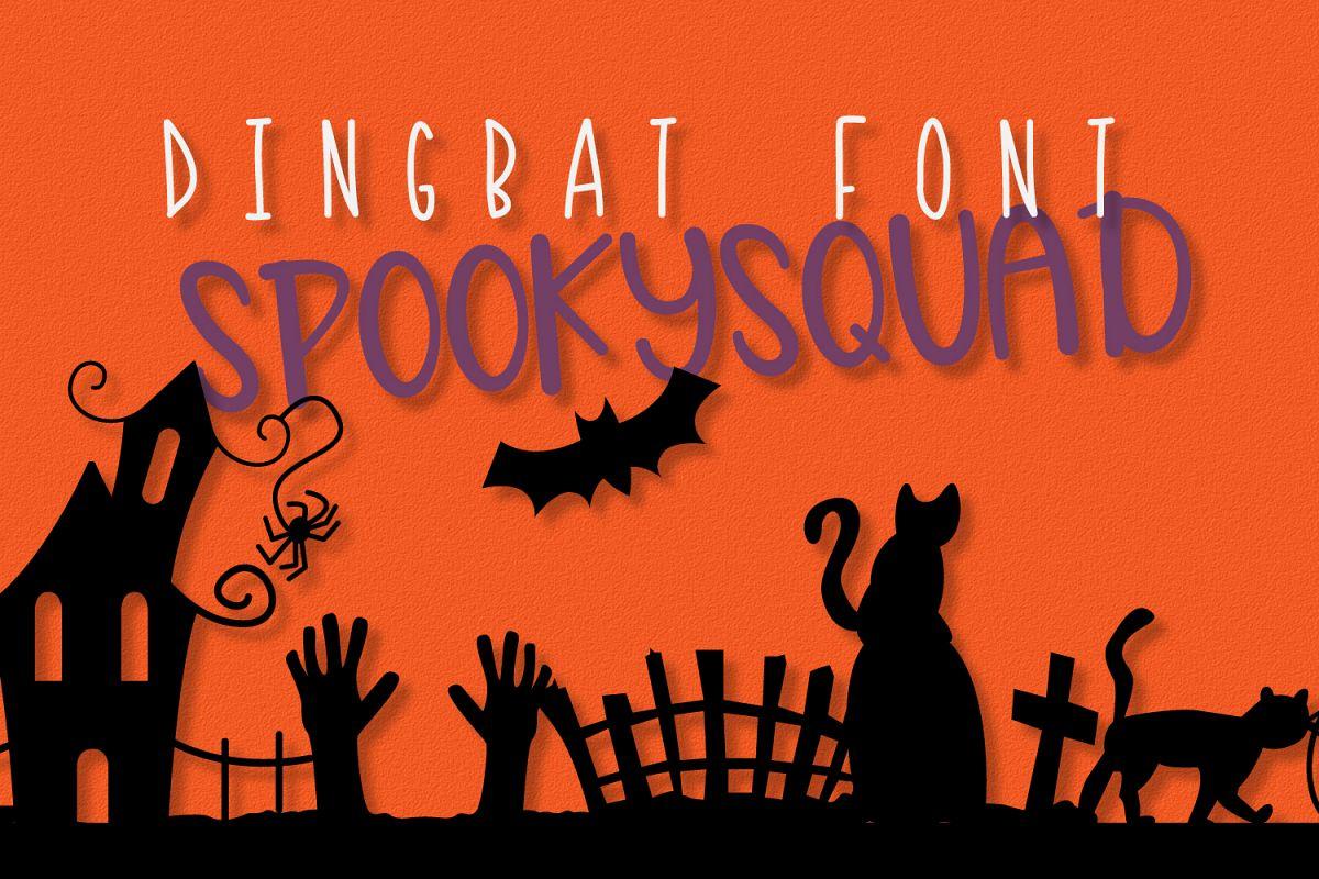 SpookySquad - Dingbat Font  example image 1