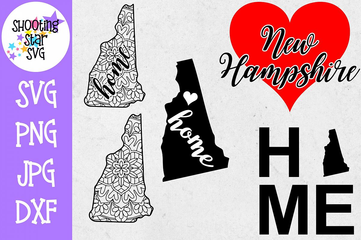 New Hampshire US State SVG Decal Bundle - 50 States SVG example image 1