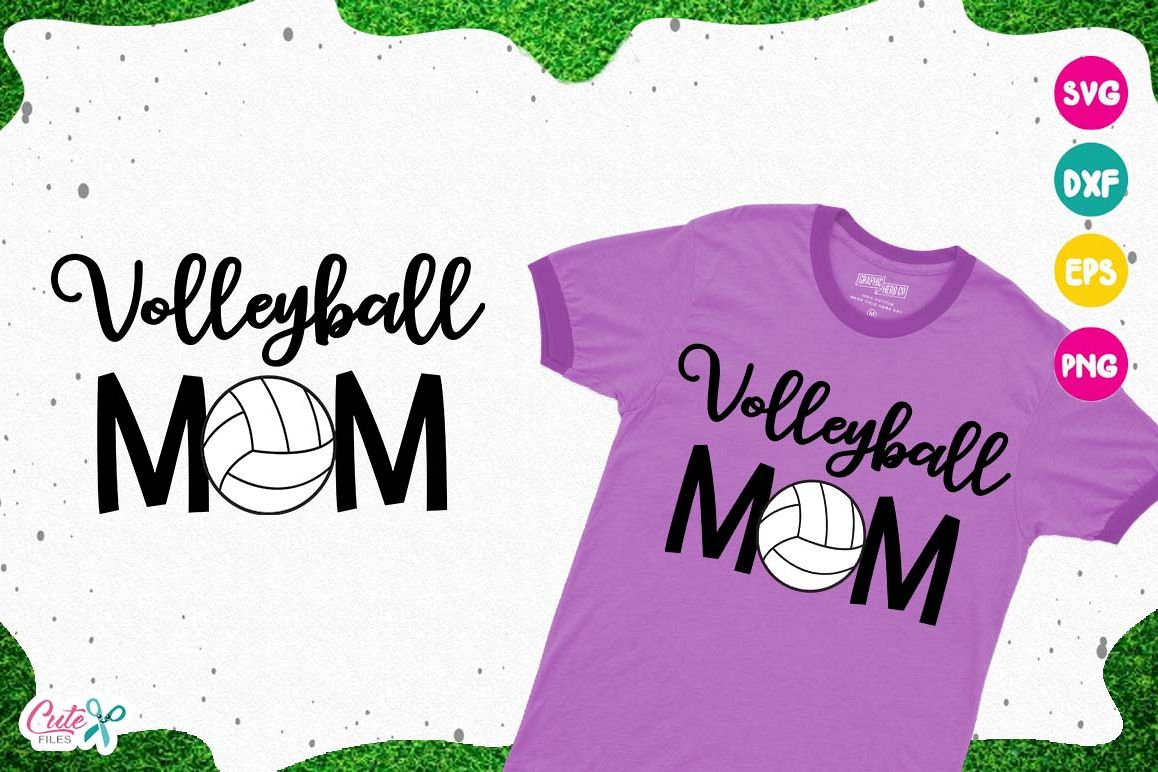 Volleyball mom SVG, cut files for craftter example image 1