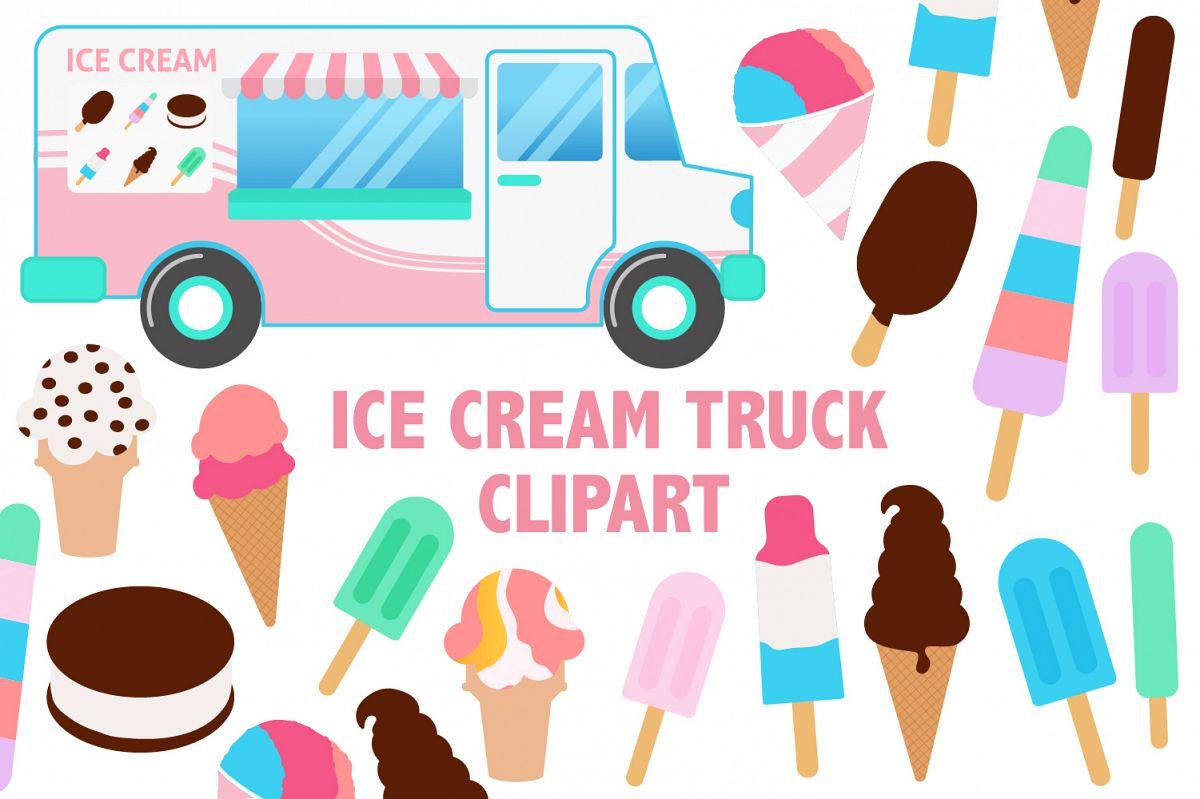 Ice Cream Truck Clipart example image 1