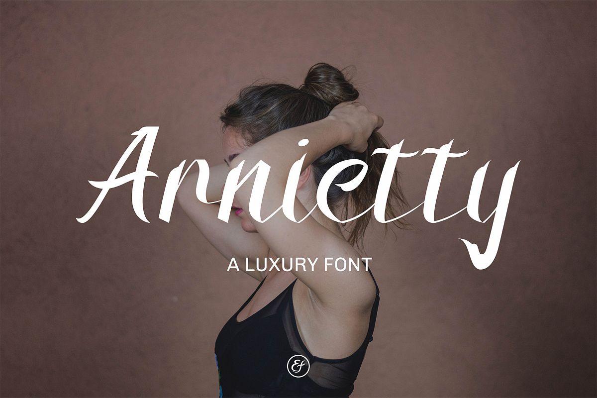 Arnietty - Luxury Font & Uniqe example image 1