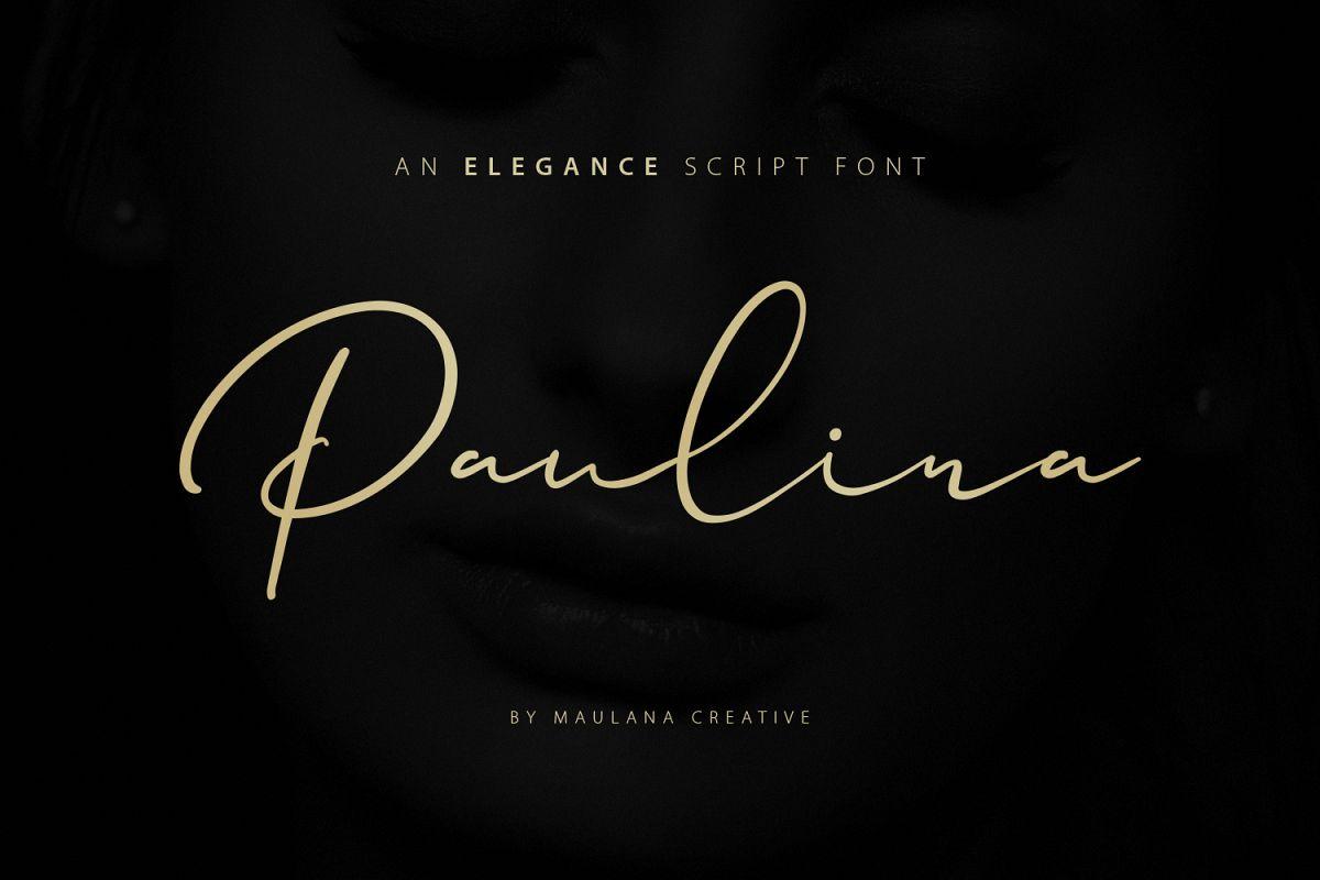 Paulina Elegance Script Font example image 1