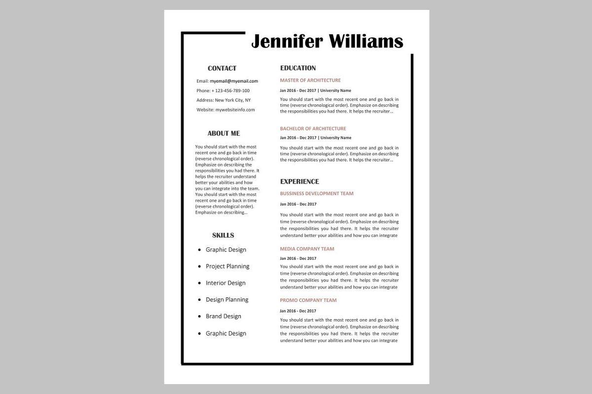 Creative resume template / CV example image 1