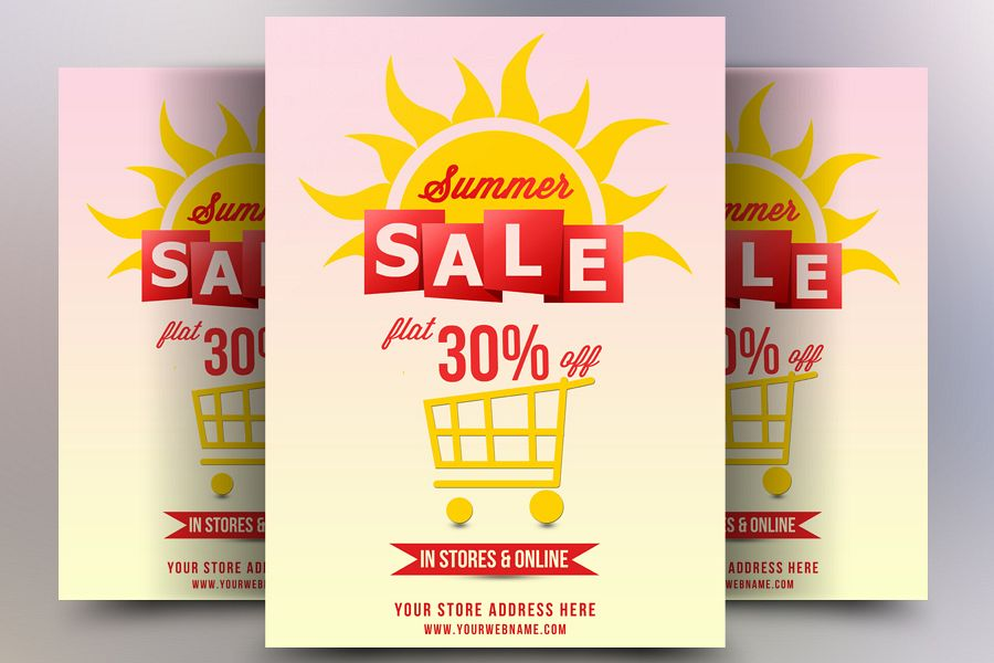 Summer Hot Sale Flyer example image 1