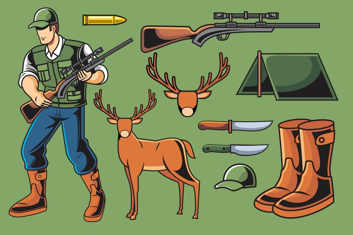 Deer Hunter Vector Pack example image 1