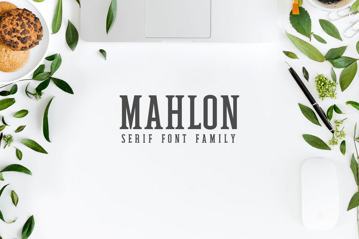 Mahlon Serif 3 Font Family Pack example image 1