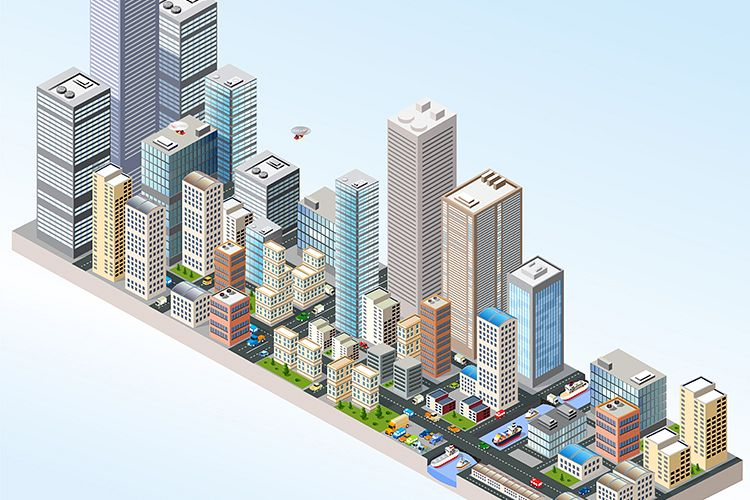 Isometric in a big city example image 1