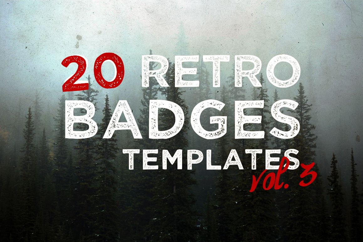 Vol.3 | 20 Retro Badges Templates example image 1
