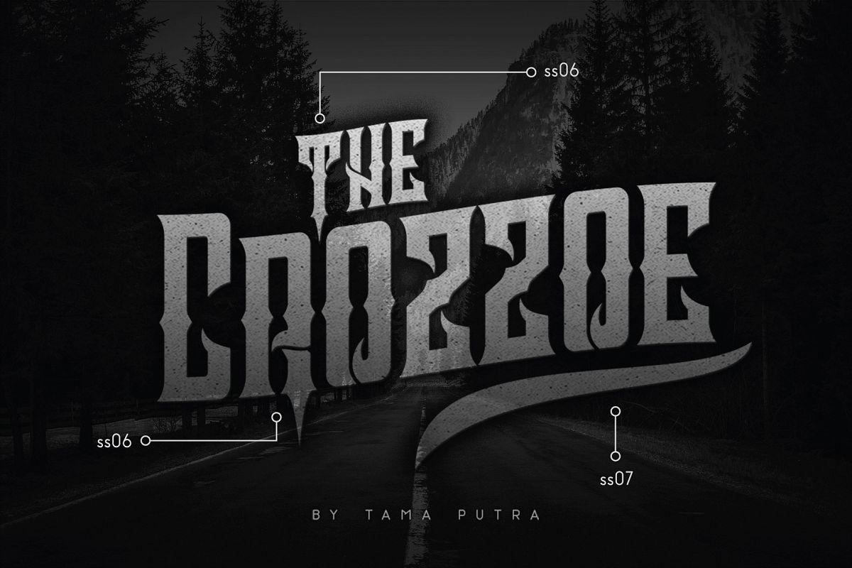 Crozzoe Decorative Serif Typeface example image 1