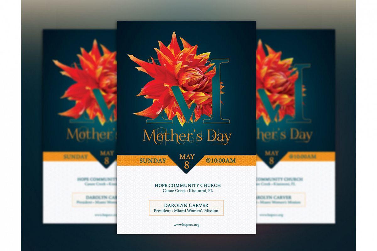 mothers day flyer template by godserv d design bundles