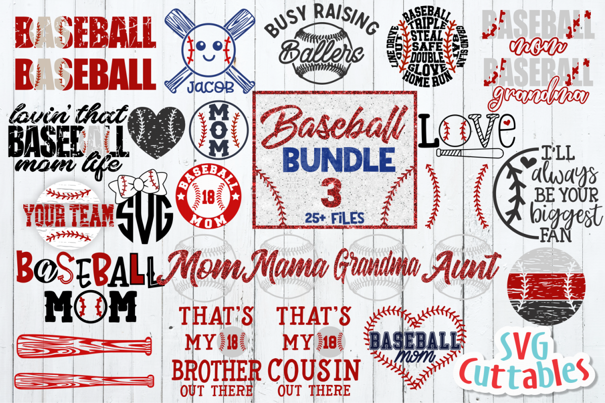Baseball Bundle 3   SVG Cut File example image 1