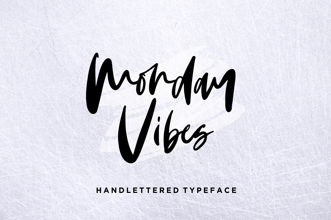 Monday Vibes - Handwritten Font example image 1