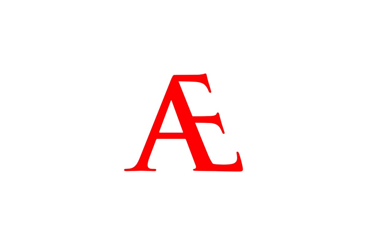 ae letter logo example image 1