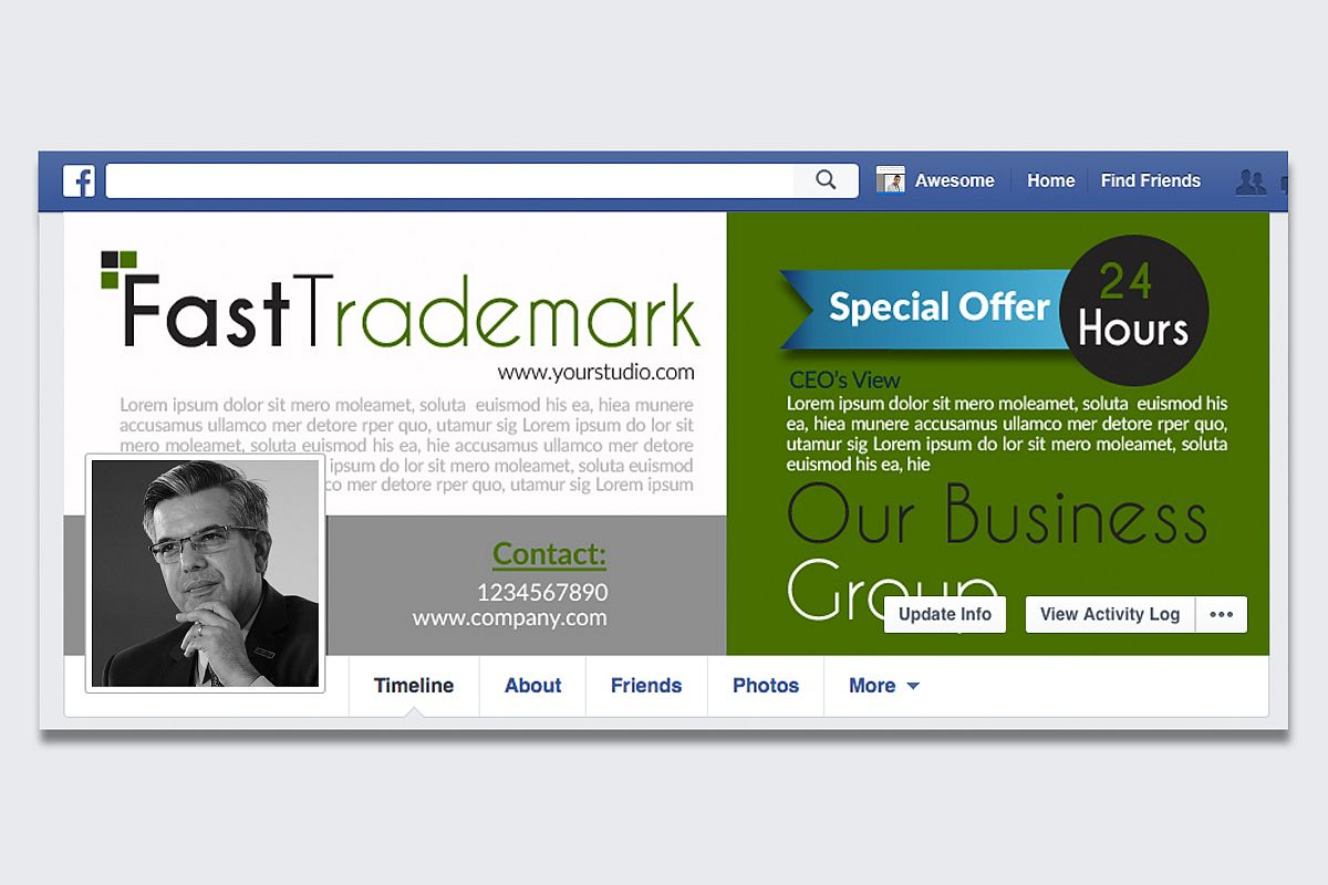 Business Solutions Consultant Facebook Cover example image 1