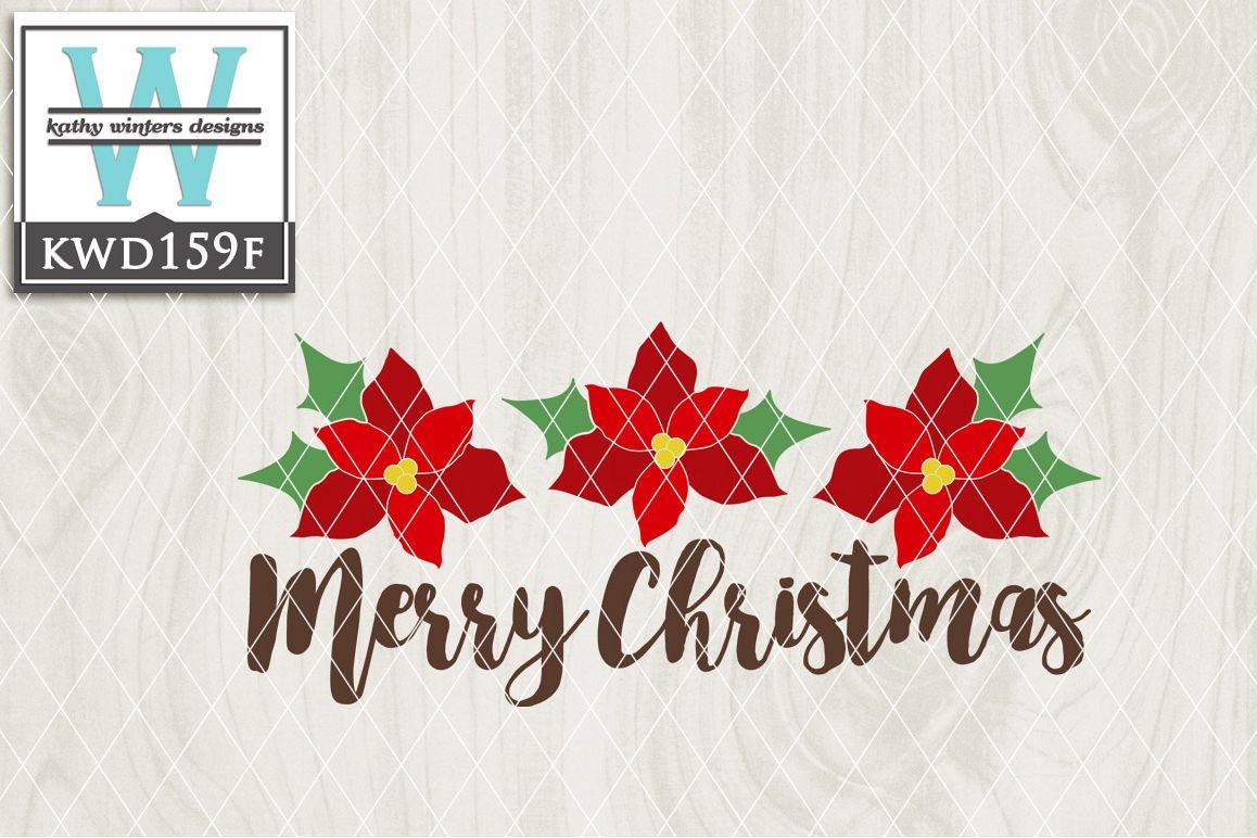 Christmas SVG - Christmas Poinsettias KWD159F example image 1