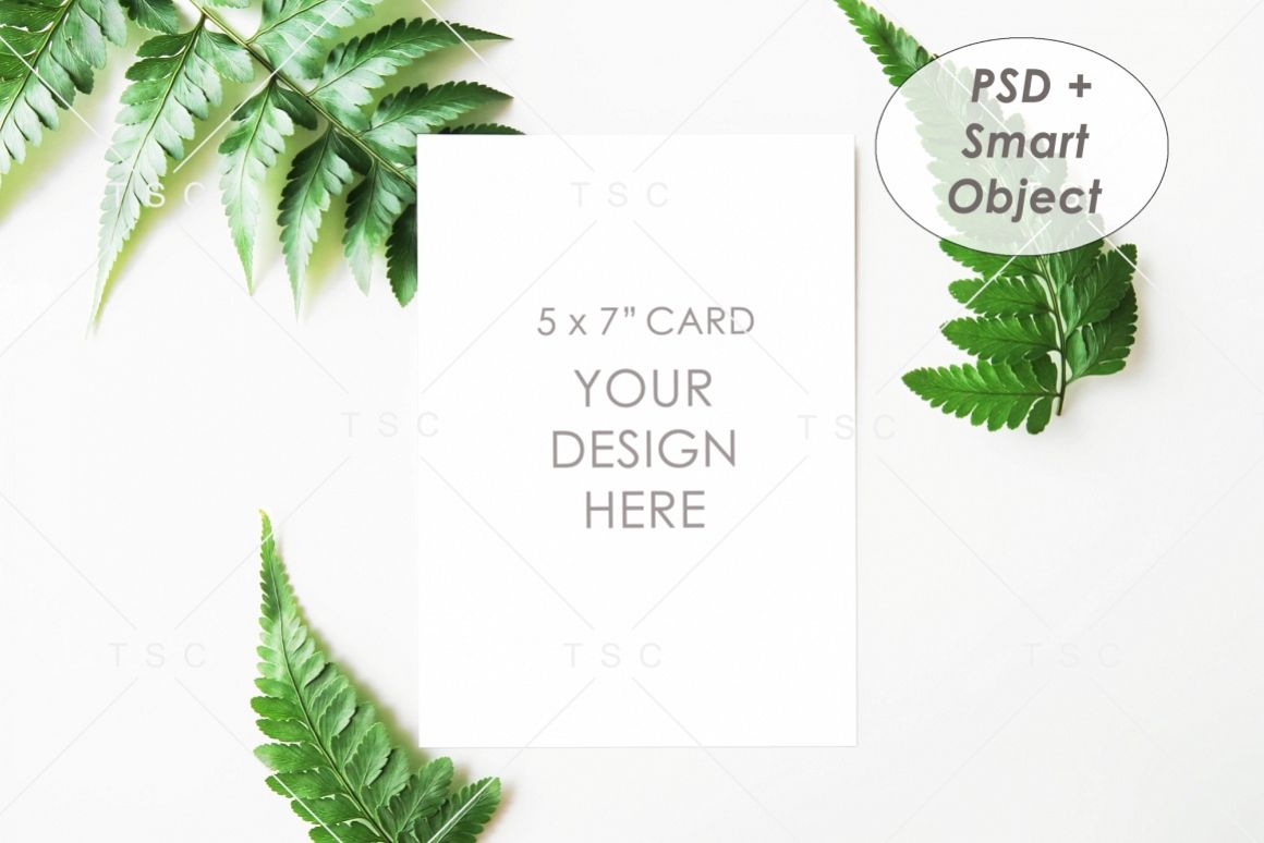 """5"""" x 7"""" Card Mockup / Invitation Card / Save the date Card example image 1"""