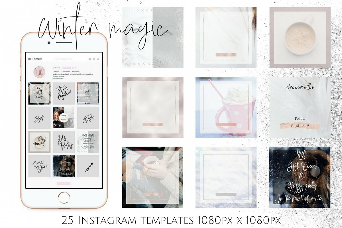 Instagram winter bundle example image 1