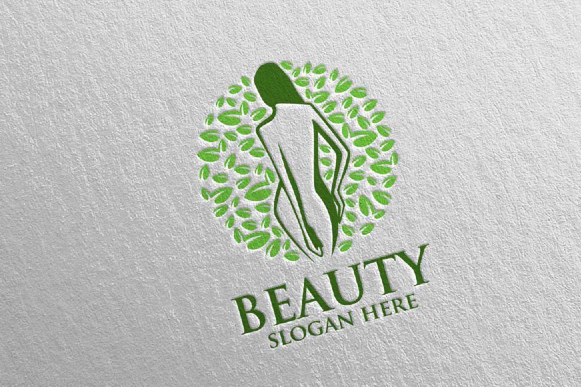 Natural Beauty, Yoga, Fitness, Massage Logo example image 1