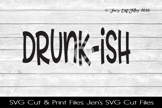 Drunkish SVG Cut File example image 1