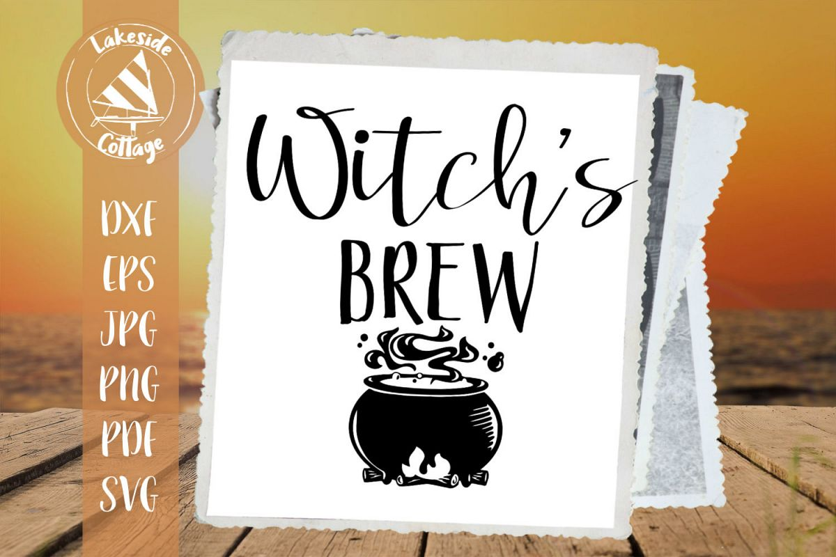 Witch's Brew Coffee and Tea Halloween SVG Design example image 1