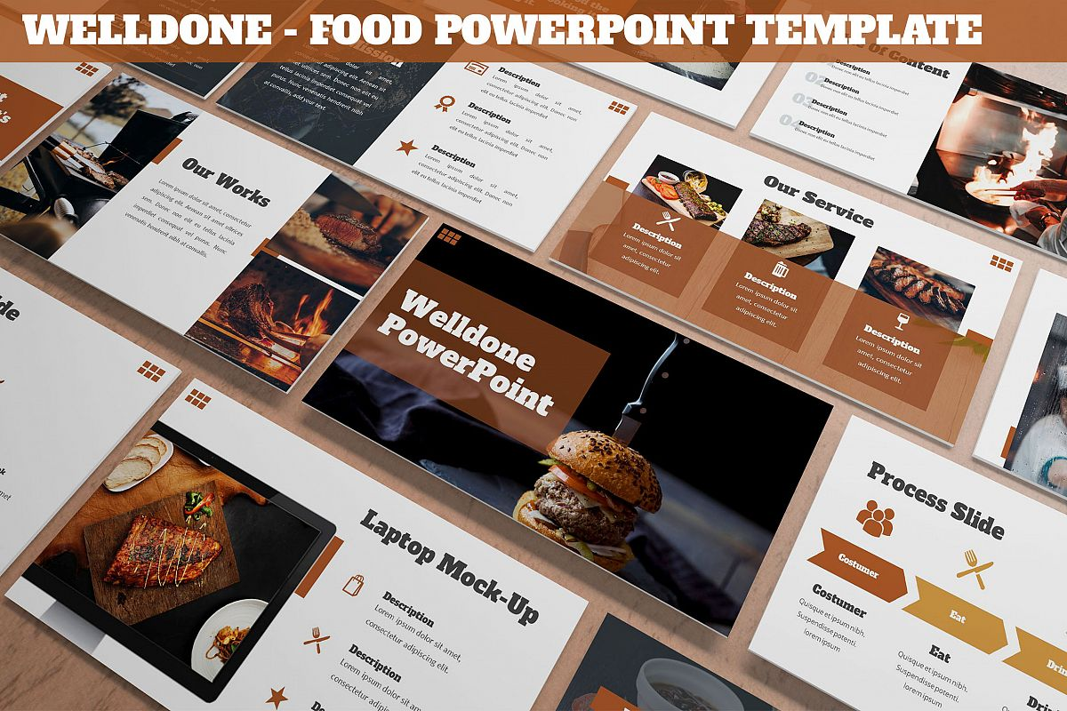 Welldone - Food Powerpoint Template example image 1