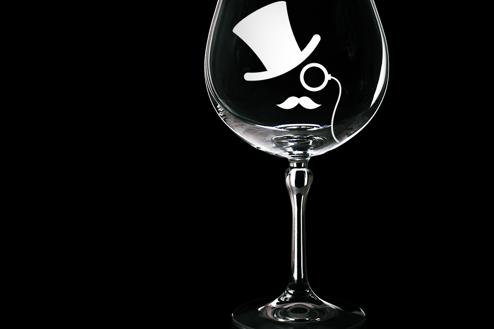 top hat and monocle svg file cutting template
