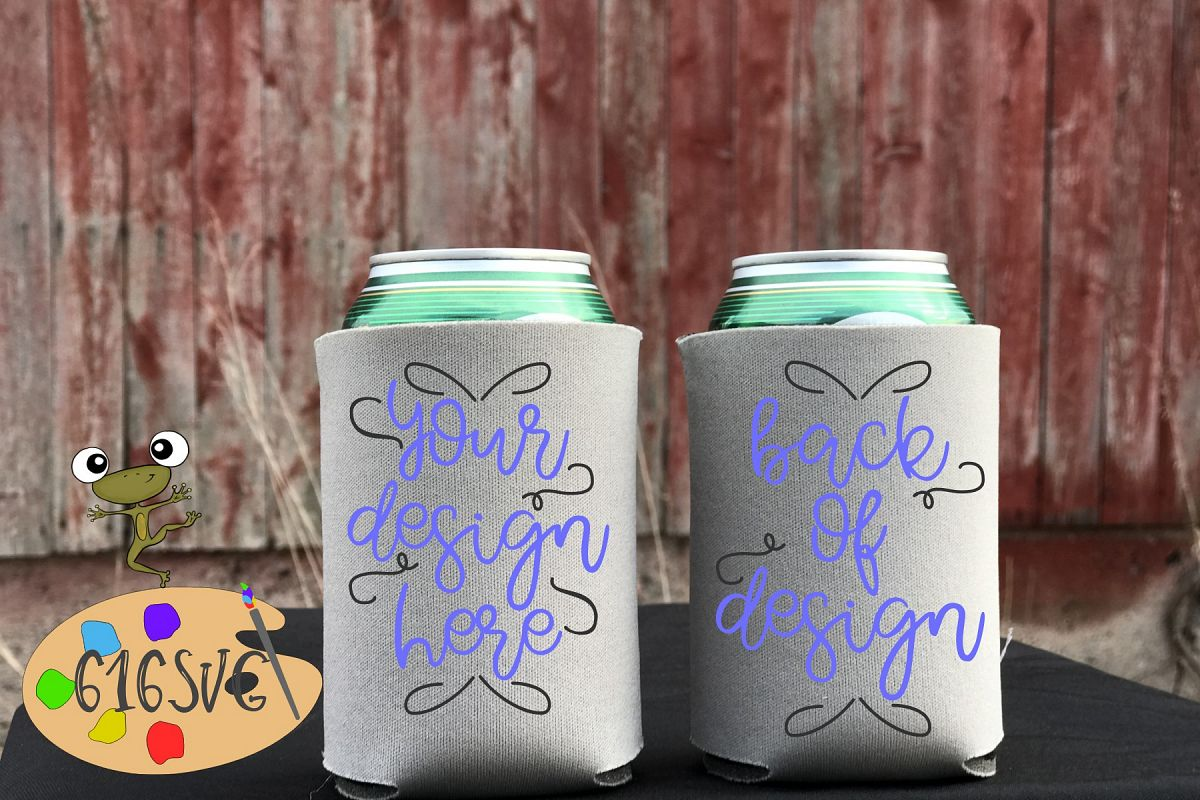 Grey Can Cooler Mockup example image 1