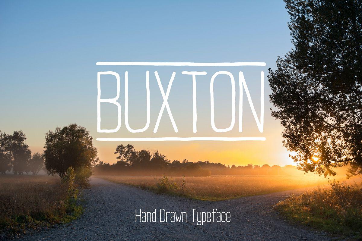 Buxton Font. example image 1