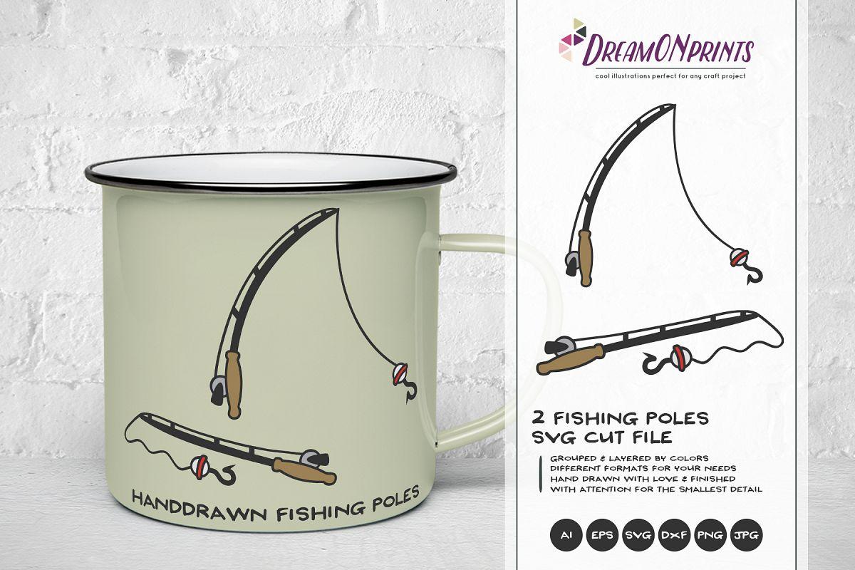 Fishing Pole SVG Cut Files - Fishing Svg example image 1