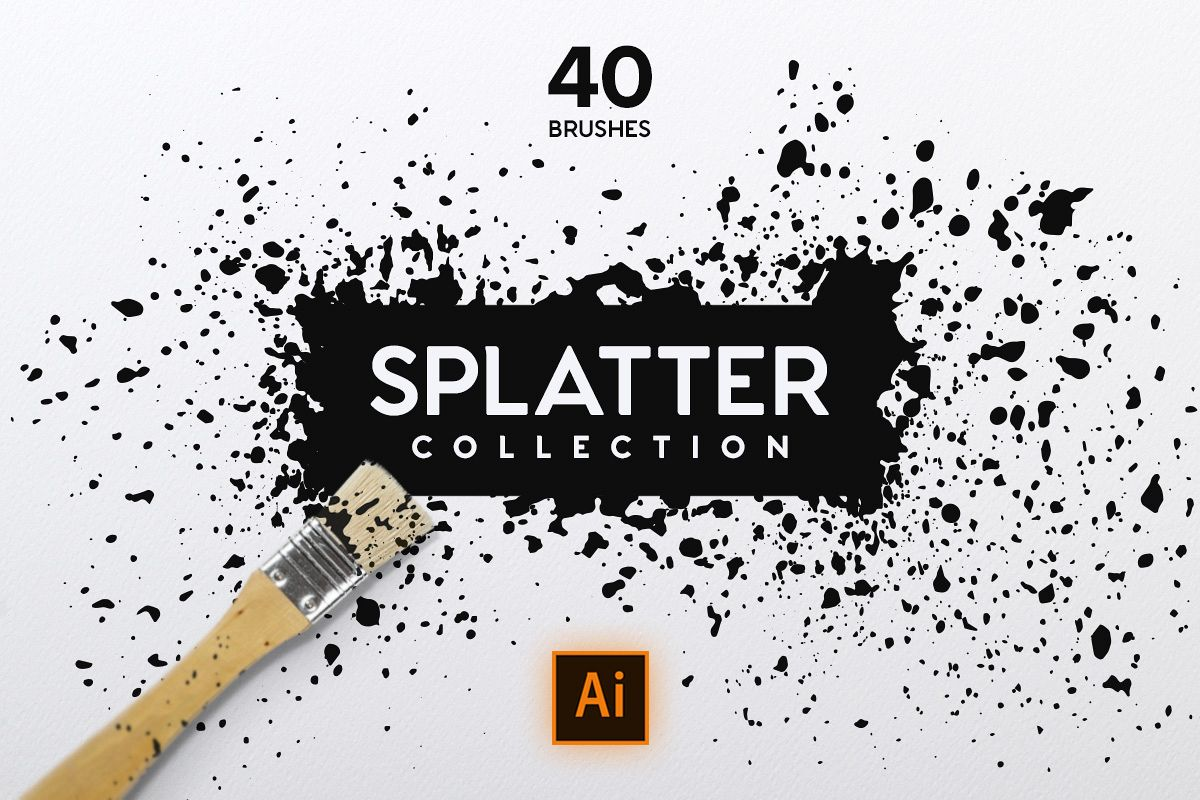 Splatter Brush Collection example image 1