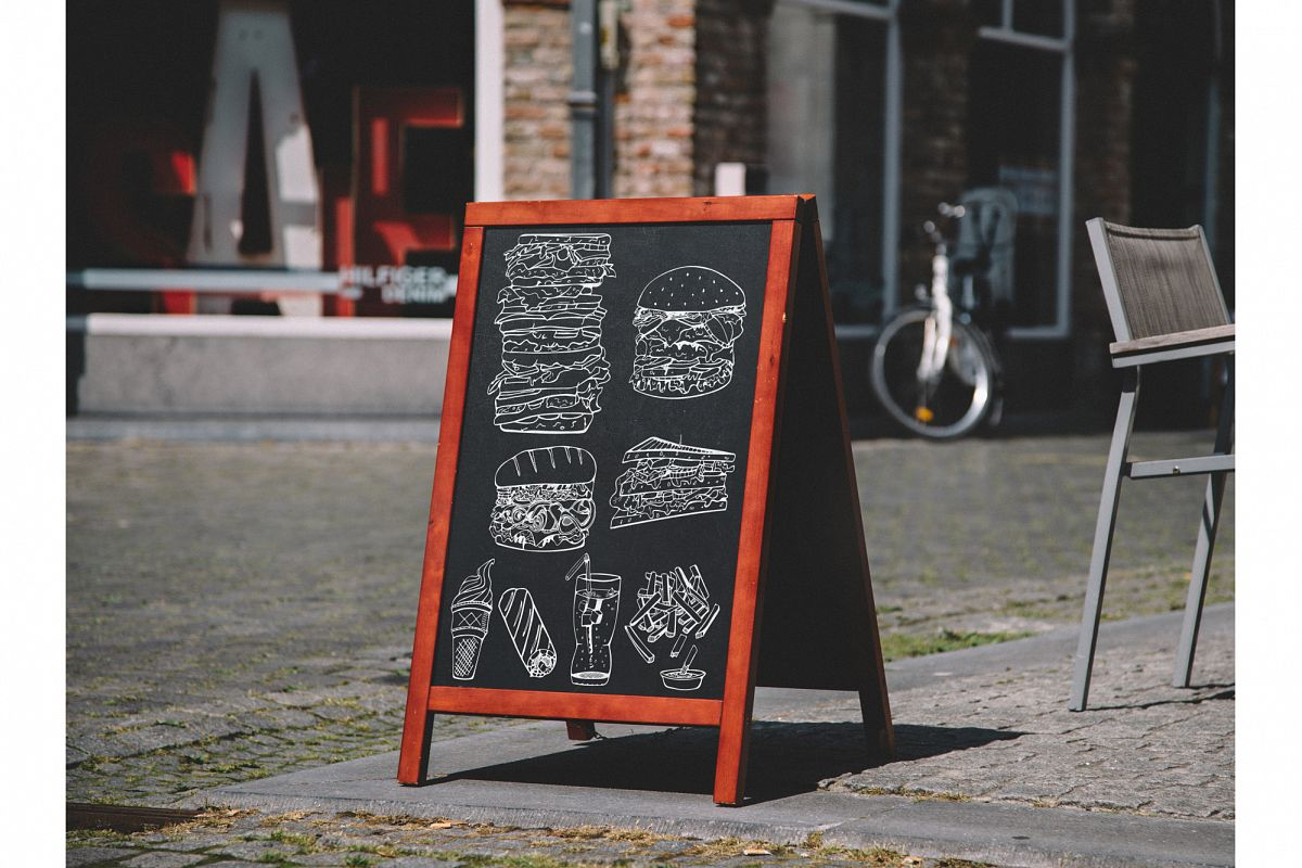 Fast food set. + Seamless patterns example image 1