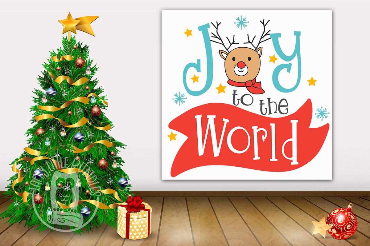 Joy to the world Christmas svg clipart dxf png pdf