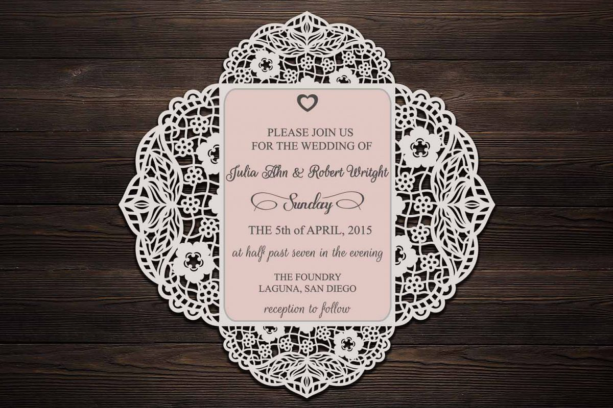 Four Fold Wedding Invitation Cricut Wedding Invitation Svg