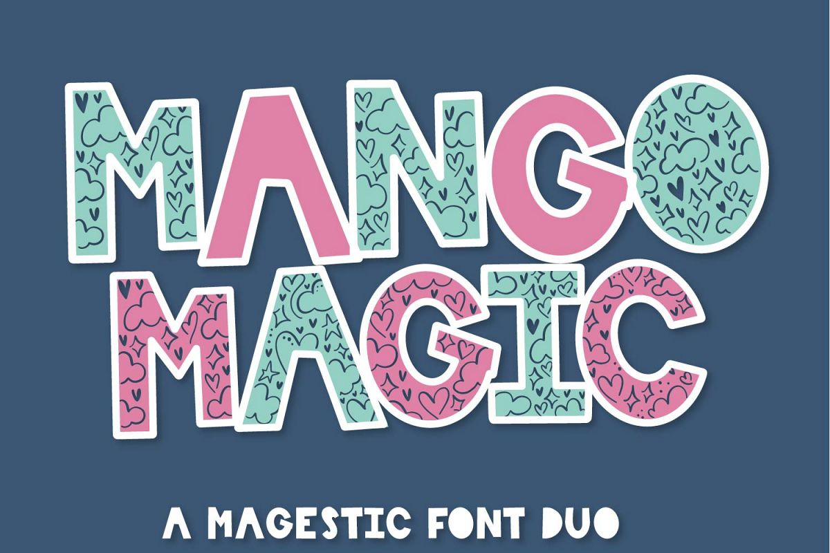 Mango Magic - A Fun Magical Font Duo - Perfect for Layering! example image 1