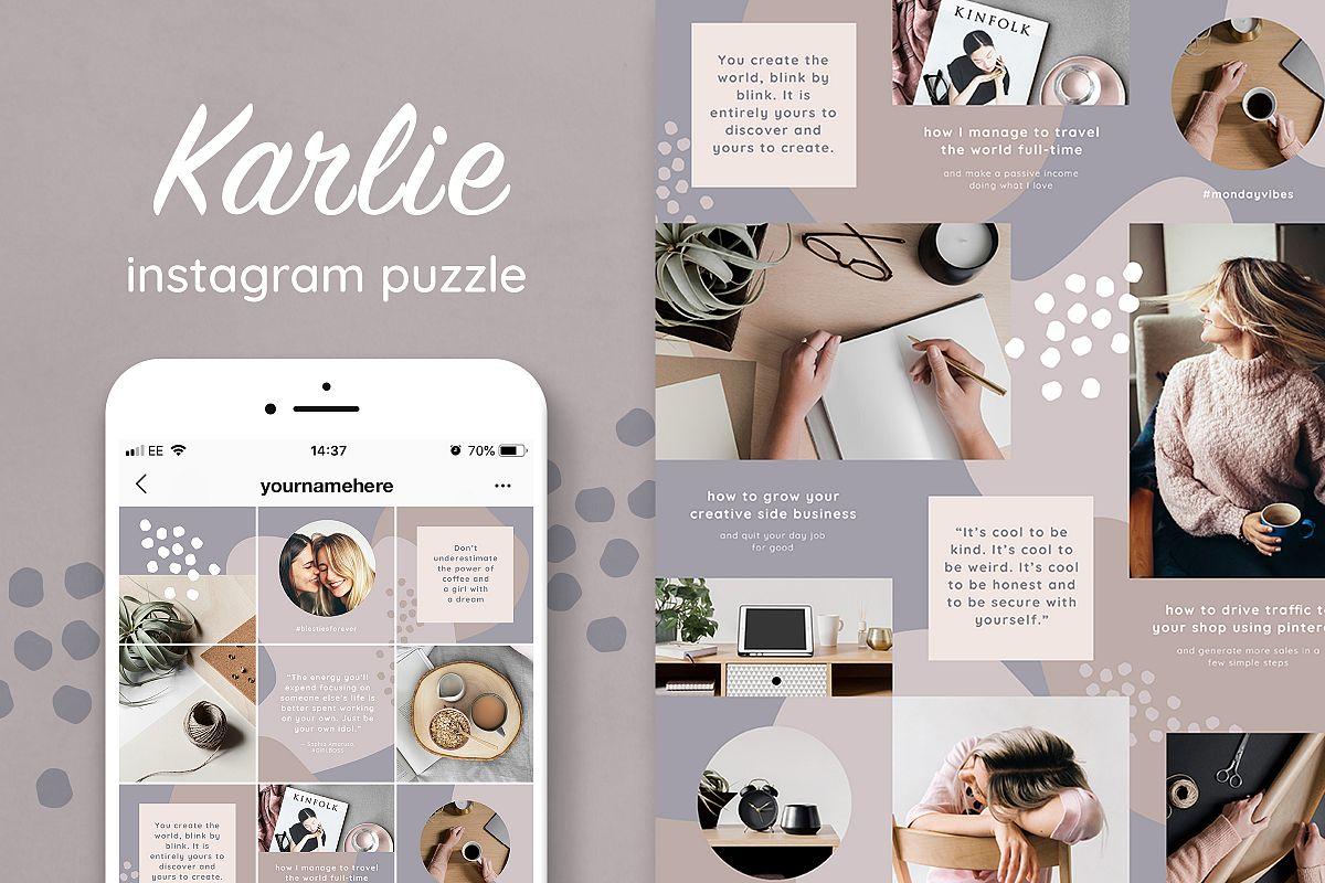 Karlie Instagram puzzle grid template