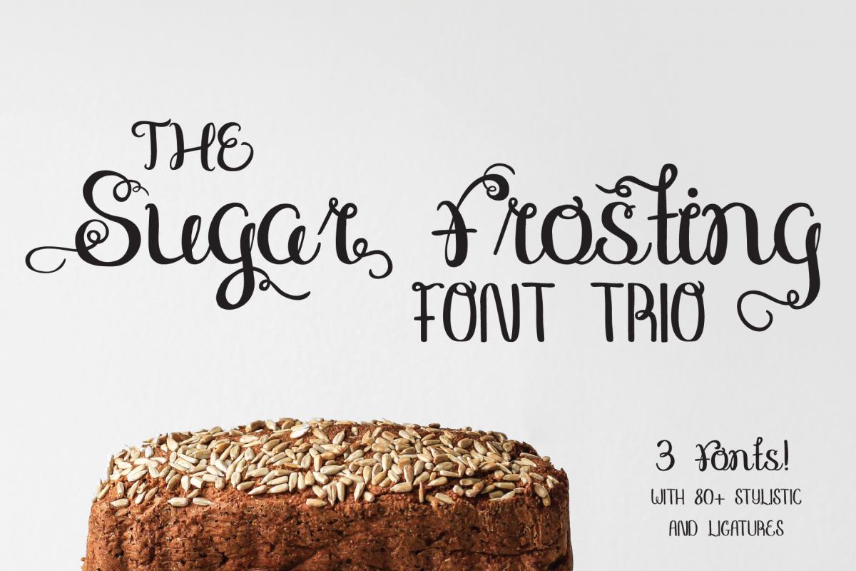 Sugar Frosting Font Trio example image 1