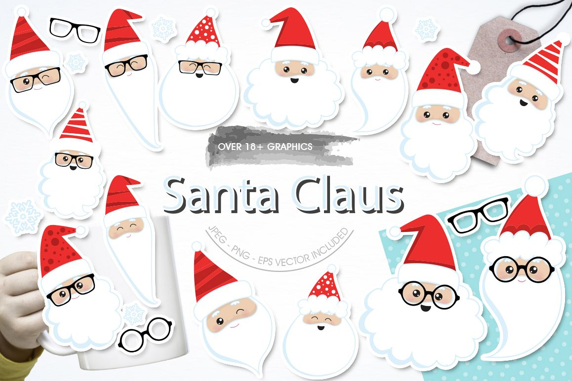 Santa Claus graphic and illustrations example image 1