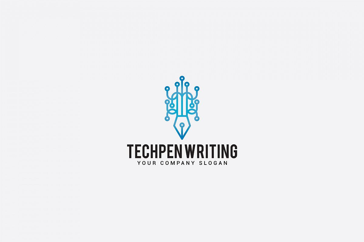 tech pen writing logo example image 1
