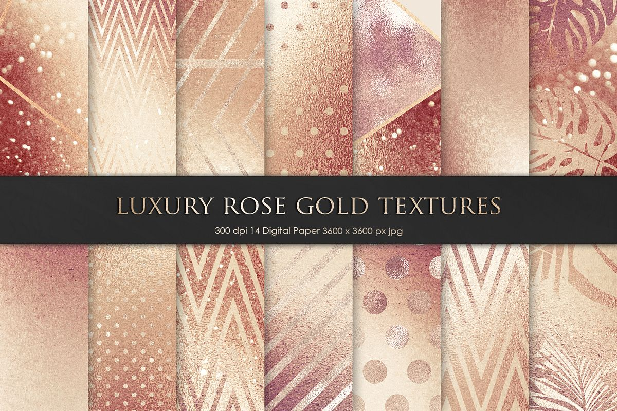 Valentines Luxury Rose, Gold, Bronze Texture and Background example image 1