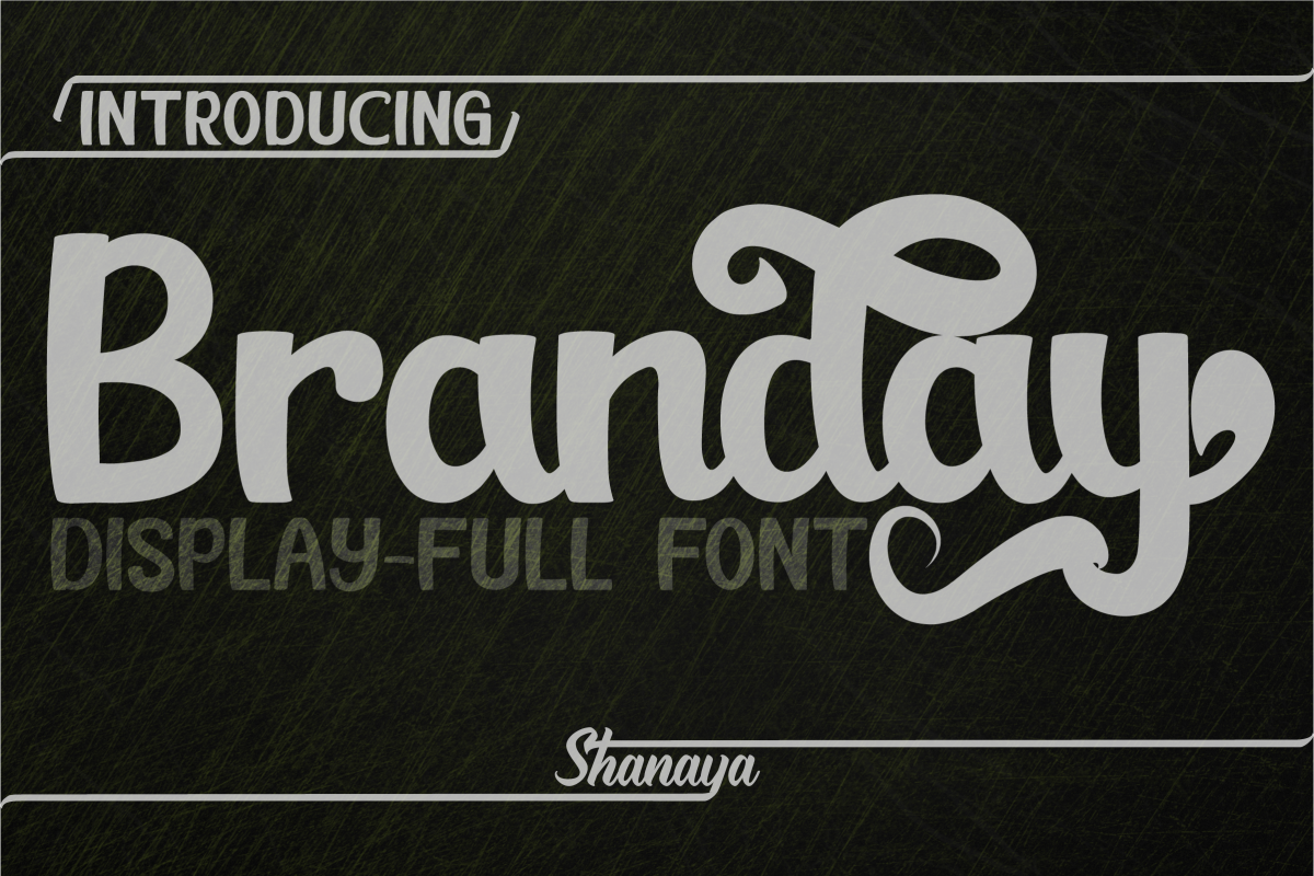Branday Unique Display Font example image 1