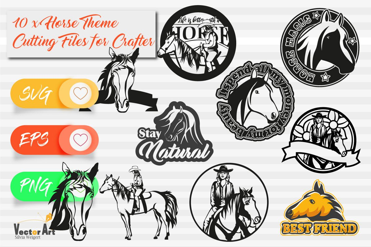 10x Horse Theme - Mini Bundle - Cut files for Crafters example image 1