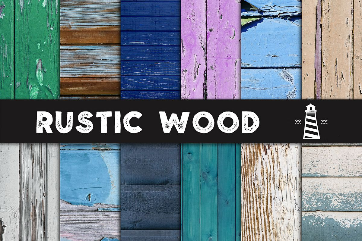 Painted Wood Textures, Distressed Wood Backgrounds example image 1